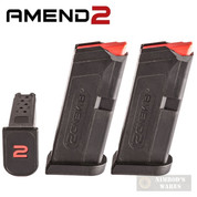 Amend2 GLOCK 43 G43 9mm 6 Round MAGAZINE Clip 2-PACK AM9A2GLOCK43BLK
