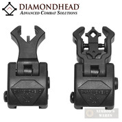 DIAMONDHEAD Front & Rear Sights SET w/ NiteBrite Polymer 1499