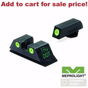 Meprolight Glock 10mm 40SW 45ACP NIGHT Sights Green ML-10222 - Add to cart for sale price!