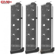 Chip McCormick 1911 POWER MAG+ .45 ACP 8 Round SS MAGAZINE 3-PACK 12131