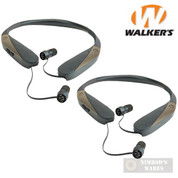 Walker's RAZOR-X Digital EAR BUDS 2-PACK Retractable USB Rechargeable NRR 31 GWP-NHE