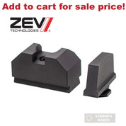 ZEV GLOCK .300 FRONT / Co-Witness REAR SIGHTS SET GEN 1-3 300-CW-B-CW-B - Add to cart for sale price!