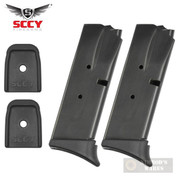 SCCY CPX-1 CPX-2 9mm 10 Round MAGAZINE 2-PACK Extended + Flat Plates 01-006