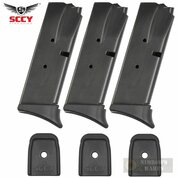 SCCY CPX-1 CPX-2 9mm 10 Round MAGAZINE 3-PACK Extended + Flat Plates 01-006