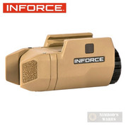 InForce APL Compact HANDGUN LIGHT 200 Lumens 1913 Mil-Std AC-06-1