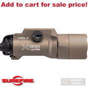 SureFire Ultra WEAPON LIGHT 1000 Lumens T-Slot X300U-B-TN TAN - Add to cart for sale price!