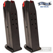 WALTHER PPQ M2 9mm 10 Round MAGAZINE 2-PACK w/ AF Coating 2796651