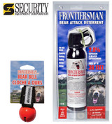 Frontiersman BEAR Pepper SPRAY 30ft Range 7.9 oz + Red BEAR BELL FBAD03 BB01RD