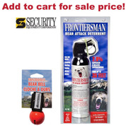FRONTIERSMAN Bear Pepper SPRAY 35Ft Range 9.2oz + Holster + Red BEAR BELL FBAD07 BB01RD - Add to cart for sale price!