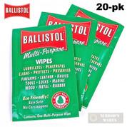 Ballistol CLP WIPES Multi-Purpose 20-pk Non-Carcinogenic 120106