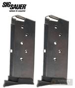 Sig Sauer P290 9mm 6 Round MAGAZINE 2-PACK MAG-290-9-6
