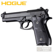 Hogue TAURUS PT-92 99 100 101 GRIP PANELS Rubber 99010 Black - Add to cart for sale price!
