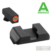 AmeriGLO Glock 42 43 G42 G43 Hackathorn SIGHTS SET Orange/Blk GL-436