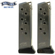 Walther PP PPKS 380ACP 7 Round MAGAZINE 2-PACK + Finger Rests Nickel 2246012