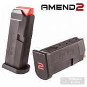 Amend2 GLOCK 42 G42 .380 6 Round MAGAZINE Clip 2-PACK AM11A2GLOCK42BLK