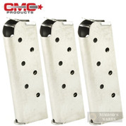Chip McCormick 14120 Match Grade 7 Round 45ACP Officer MAGAZINE 3-PACK