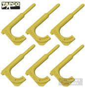 TapCo Rifle CHAMBER FLAG / SCOPE ADJUSTMENT TOOL / PUNCH 6-PK Yellow 16804