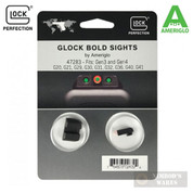 "AmeriGlo Glock BOLD Night Sights GEN 3&4 20 21 29 30 31 32 36 40 41 0.165"" 47283"