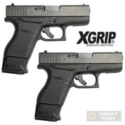 X-Grip Use ETS GLK-43-9 9mm 9 Round MAG in GLOCK 43 G43 GL43-9 2-PACK
