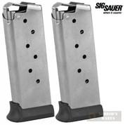 Sig Sauer P938 LEGION 9mm 7 Round MAGAZINE 2-PACK MAG-938-9-7-LEGION