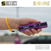 Sabre STUN GUN 3.8M Volts + FLASHLIGHT 100 Lumens S-1006-PR Purple