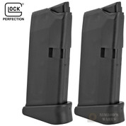 GLOCK 43 G43 9mm 6 Round MAGAZINE 2-PACK w/ Extensions 08855