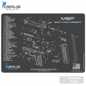 "S&W Smith & Wesson M&P Schematic PROMAT Bench MAT 12""x17"" HMSWMPSCHGRY"