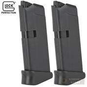 Glock 42 G42 .380 ACP 6 Round MAGAZINE 2-PACK + GRIP EXTENSIONS 33519 Bulk