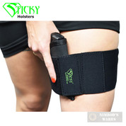 "Sticky Holsters THIGH BAND w/ Accessory Pouches 20""-31"" LG GUARD-HER-BELT"