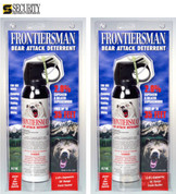 Frontiersman BEAR Pepper SPRAY 2-PACK 35ft Range 9.2 oz FBAD06