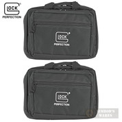 GLOCK Double Pistol RANGE BAG 2-PACK Dual-Compartment OEM AP60242