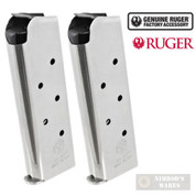 Ruger SR1911 OFFICER .45ACP 7 Round MAGAZINE 2-PACK SS 90664