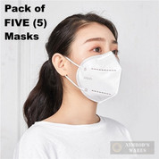 KN95 Protective Face Mask 5-PACK PPE 5-layers Keeps out germs, dust, droplets and airborne particles