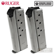 Ruger SR1911 OFFICER 9mm 7 Round MAGAZINE 2-PACK OEM 90652