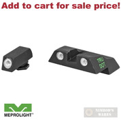 Meprolight GLOCK 26 27 Tru-Dot NIGHT SIGHTS SET Green/Yellow 0102263201 - Add to cart for sale price!