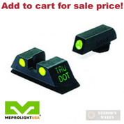 Meprolight Tru-Dot GLOCK 20 21 29 30 NIGHT SIGHTS SET Green/Yellow 0102223201 - Add to cart for sale price!