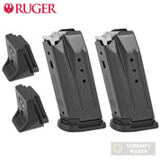 RUGER Security-9 Compact / PC Carbine 9mm 10 Round MAGAZINE 2-PACK + Extensions 90667