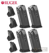 RUGER Security-9 Compact / PC Carbine 9mm 10 Round MAGAZINE 4-PACK + Extensions 90667
