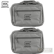 GLOCK Double Pistol RANGE BAG 2-PACK Dual-Compartment OEM AP60301