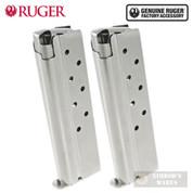 Ruger SR1911 10MM 8 Round MAGAZINE 2-PACK SS OEM 90639