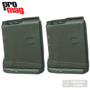 ProMag AR-15 5.56 10 Round ROLLER ANTI-TILT FOLLOWER Magazine 2-PACK RM-10-OD