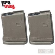 ProMag AR-15 5.56 10 Round ROLLER ANTI-TILT FOLLOWER Magazine 2-PACK RM-10-FDE