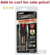 Sabre 3-IN-1 PEPPER SPRAY + Clip 10ft Range 35 Bursts Self-Defense P-22 - Add to cart for sale price!
