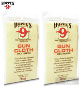 Hoppe's WAX TREATED GUN CLOTH 2-PACK Clean Polish Protect Wood & Metal 1217