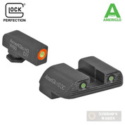 AmeriGlo Glock BOLD Night Sights SET Gen3/4 G17 G19 G26 and More 47284