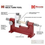 Hornady NECK TURN TOOL .22 6mm 6.5mm .30 Mandrels Handloading 041224