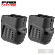 FAB Defense GLOCK 42 G42 PLUS 4 Mag GRIP EXTENSION 2-PACK FX-4210B