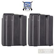 D&H AR15 M16 5.56 .223 10 Round MAGAZINE 2-PACK Aluminum Anti-Tilt Follower 10-AL-BT-MP-RT