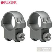Ruger 30mm Medium SCOPE RINGS (2) Matte Black 4B30HM 90321