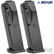 Mec-Gar BERETTA M9 92FS 92G 92X 9M 9mm 10 Round MAGAZINE 2-PACK MGPB9210B